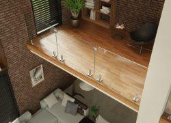 glass railing interior