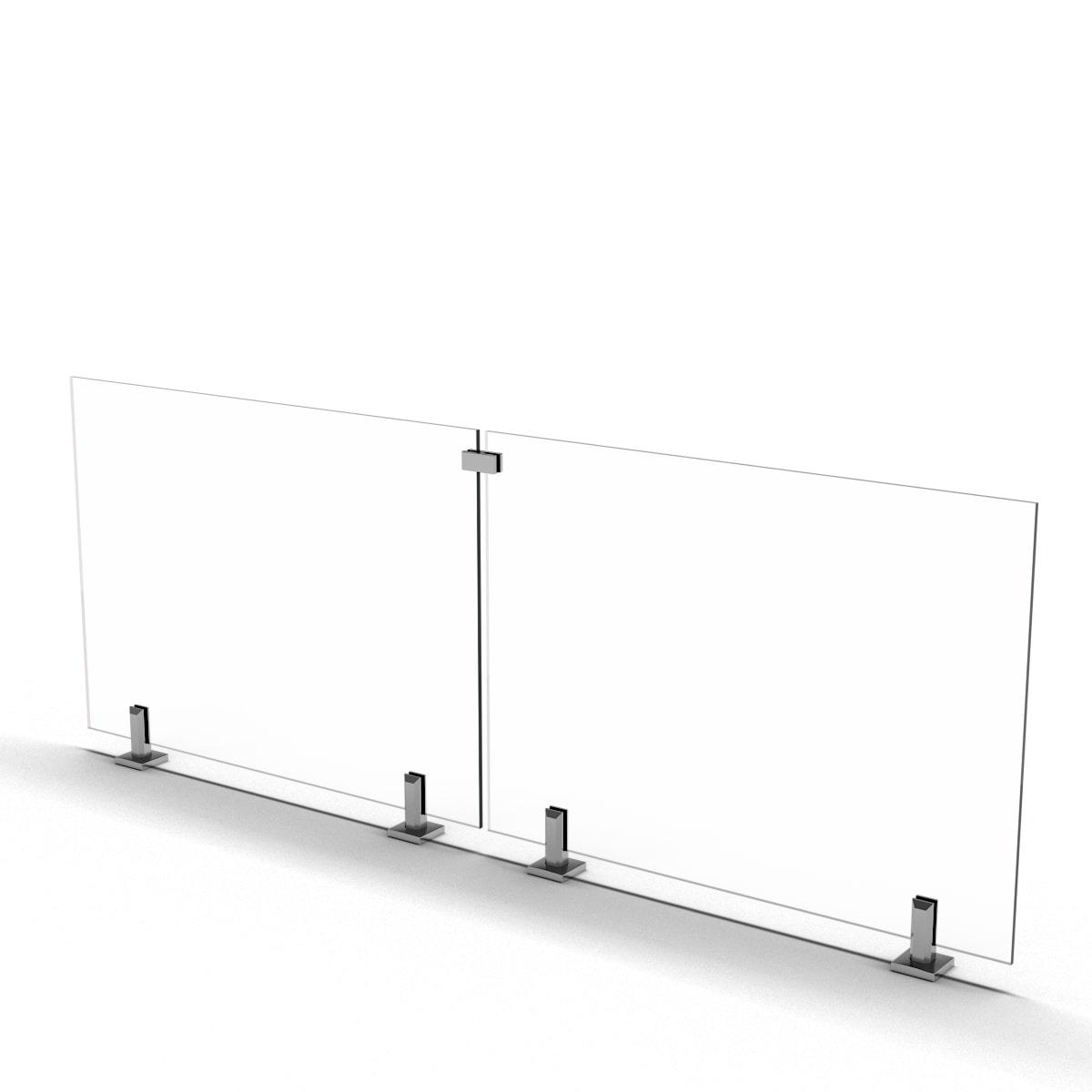 frameless railing spigot clamp